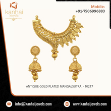 2016 Latest Designs Antique Gold Plated Mangalsutra