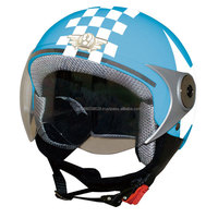 Secure and stylish child half helmet for motorcycle in various colors