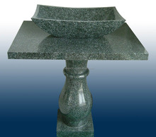 green granite pedestal counter top sink/washbasin