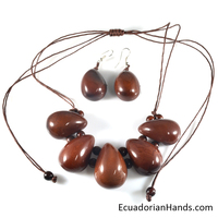 Necklaces And Earrings - Handmade Eco Ivory Tagua Jewelry (Jc001-A)