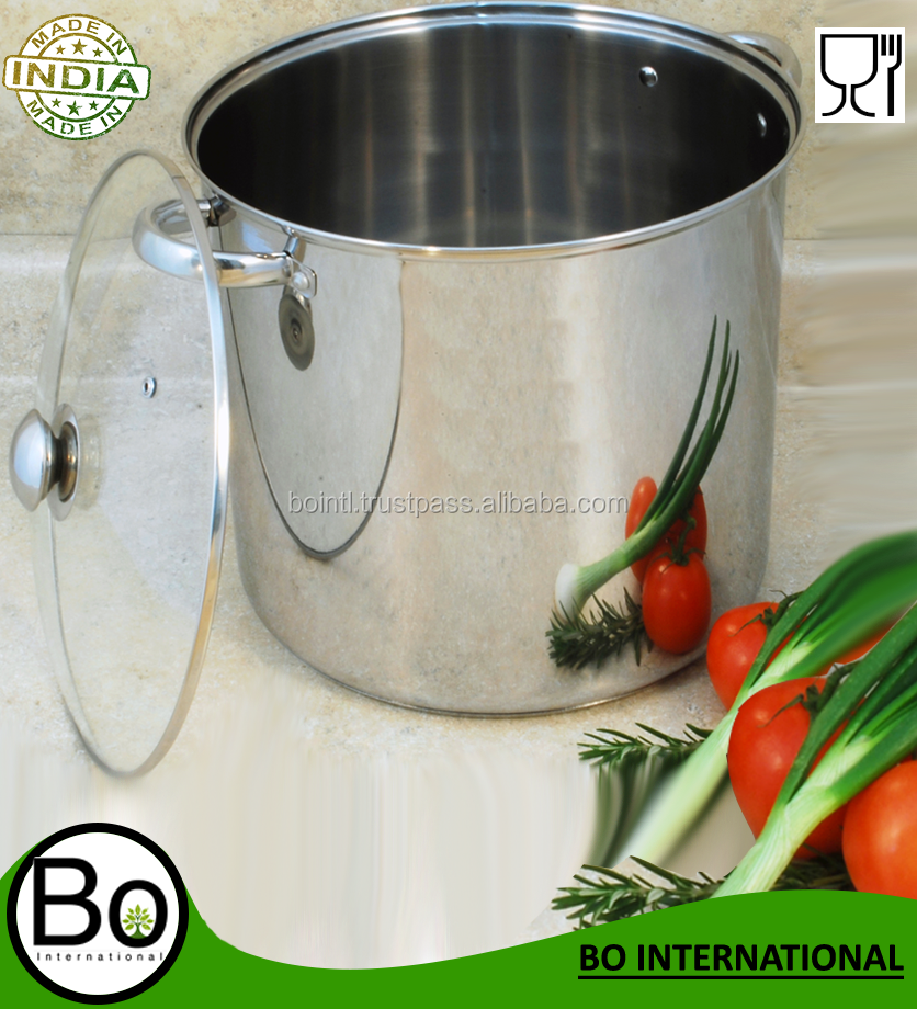 Stainless Steel Stock Pot 12 QT