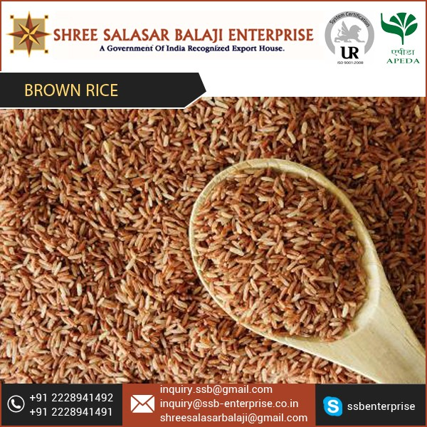 2016 Hot Selling Reasonable Price Organic Brown Basmati Rice