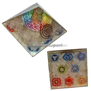 Flower of life Orgone Pyramids with Chakra Symbol: Alibaba Top Online Seller of Orogne pyramids