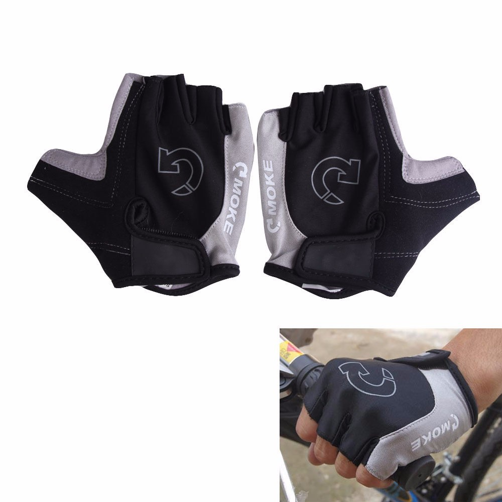 Bicycle/Cycle gloves, Half Finger Cycle Gloves, Amara And Lycra Cycling Gloves In Black Color For Junior / Youth / Adults