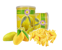 Thailand dried fruit best selling Vacuum freeze dried Mango Nam Duk Mai 40 g tin - Thai Ao Chi Brand - Dry fruit Snack