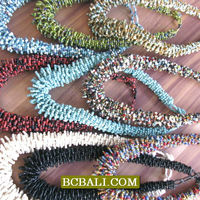 Bead Necklaces Multiple Seed Circle Handmade