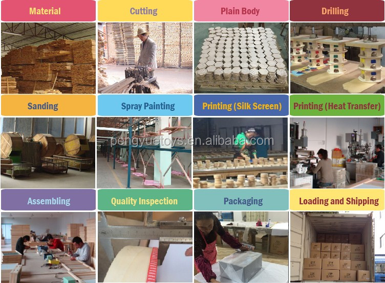 Full Color Printed Wooden Blocks Set, Heat Transfer Building Blocks