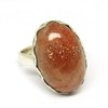 Red Sun Stone 925 Sterling Silver Gemstone Oval Shape Ring, Silver Jewelry Manufacturer, Indian Silver Jewelry