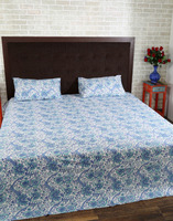 100% Cotton Fabric Home Textile Bed Sheet Wholesale Indian Bed Sheet Hand Block Printed Bed Sheet Supplier