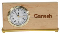 Beautiful personalized wooden desk clock with engraved name for sale