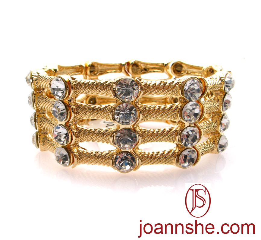 JOANNSHE - METAL BAR/CRYSTAL BRACELET