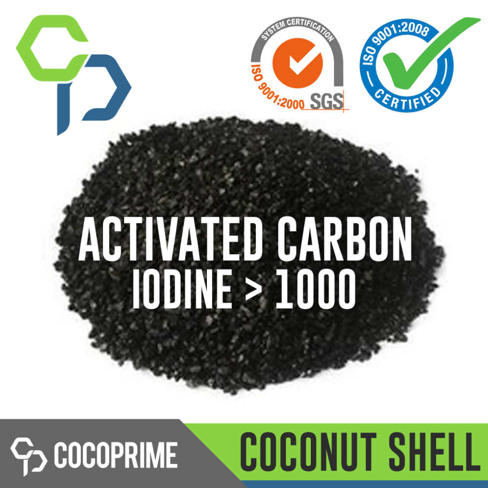 WATER FILTER Activated Carbon Coconut Shell 4x8 IODINE 1000 ASTM