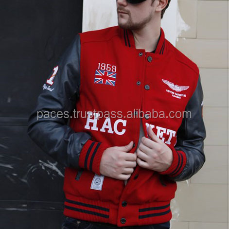 Cheap Custom Varsity Jackets/ Custom Made Varsity Jackets with High Quality Custom Chenille Patches & Embroidery