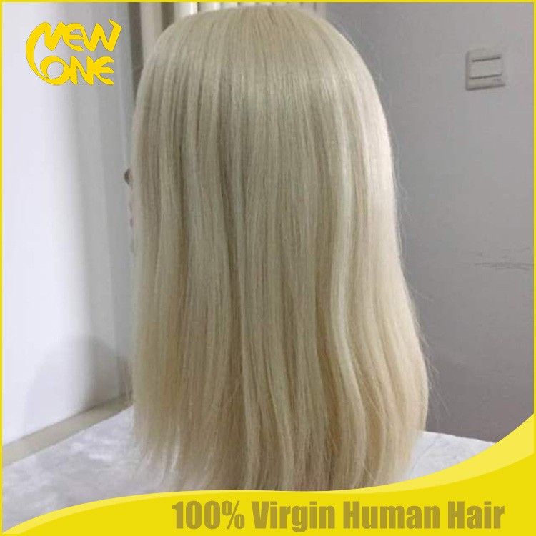 Color 60 cuticle hair sheitels top quality wigs for beauty