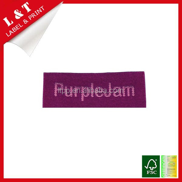 100% polyester damask woven label for men clothing