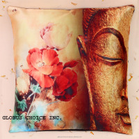 Indian Pillow Case Digital print Lord BUDDHA Cushion Cover