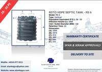 ROTO RS 6 Vertical HDPE Septic Tank (PE30) 2270MM (DIA) x 2910MM (H) 9400L