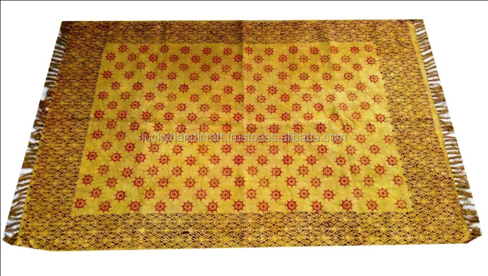 Indian Handmade Carpet & Rug Living Room Cotton Rug