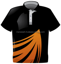 Mi-008 big men casual sublimated striped polo t shirts