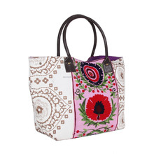 Vintage Suzani Work Hand Bag Indian Fashion Symbol Embroidery Bag for Women -
