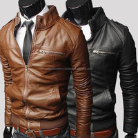 Hot sale motorbike pu leather jackets fashionable lightweight slim fit biker leather jacket s men superb style and nice color