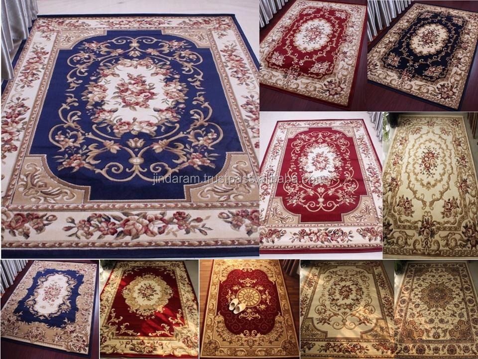 Indian knotted pile acrylic carpets