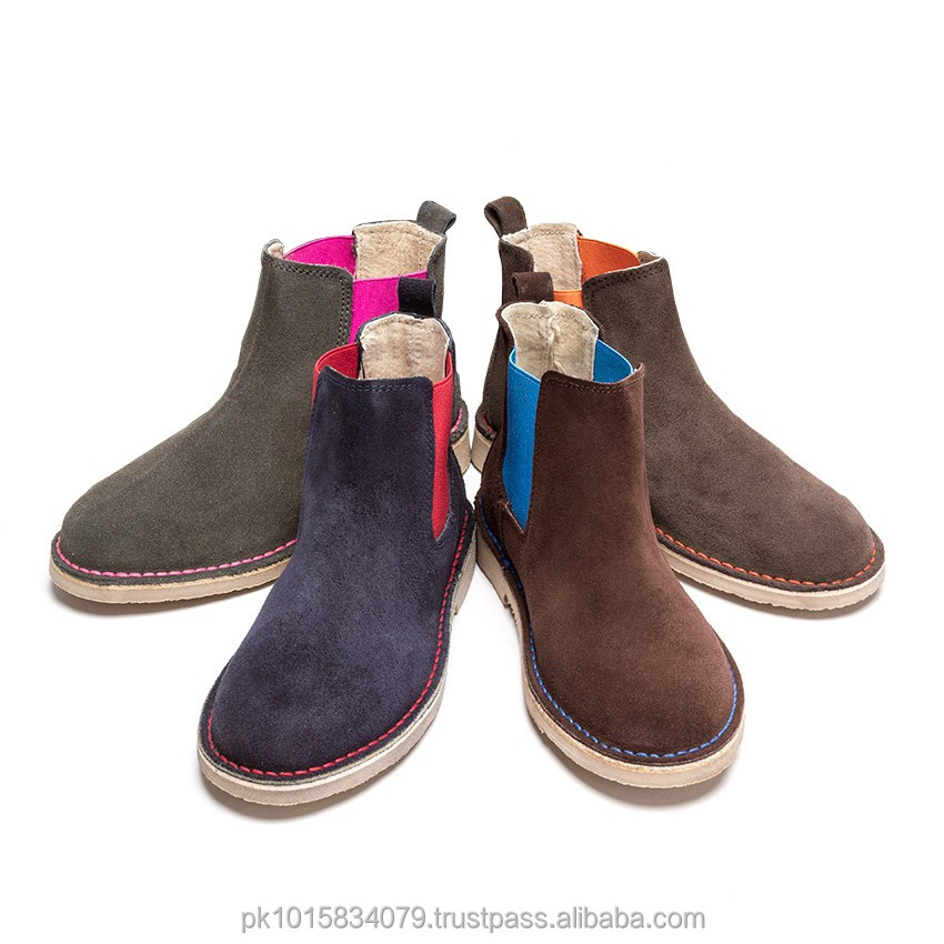 Kids Suede Chelsea Multi Colour Boots, Stunning Hand Made High Quality Kids Boots In lot Of Charming Colors,Genuine Leather Boot