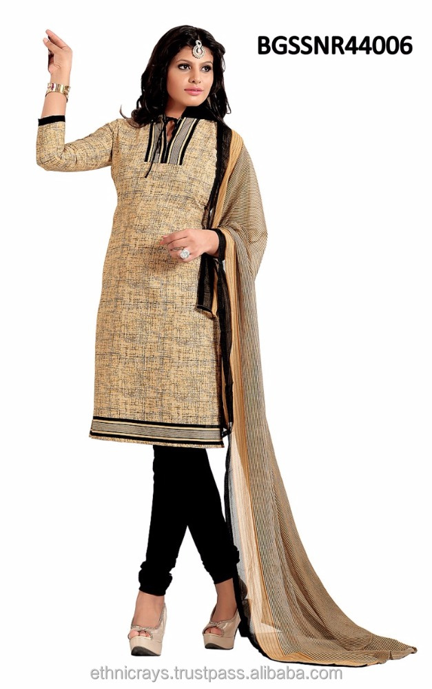 Cotton straight cut style indian salwar kameez
