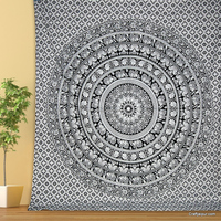 Handmade mandala wall hanging cotton christmas decor beach throw hippie tapestry Categories Selected: Textiles & Leather Product