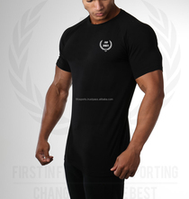 Dry Fit Custom Musle Fitted Sports Gym T Shirt Wholesale Men's Fitness Workout