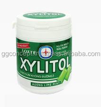 Lotte Xylitol Chewing Gum 145g Jar / Lime Mint, Fresh Mint, Blueberry / Wholesale Chewing Gum