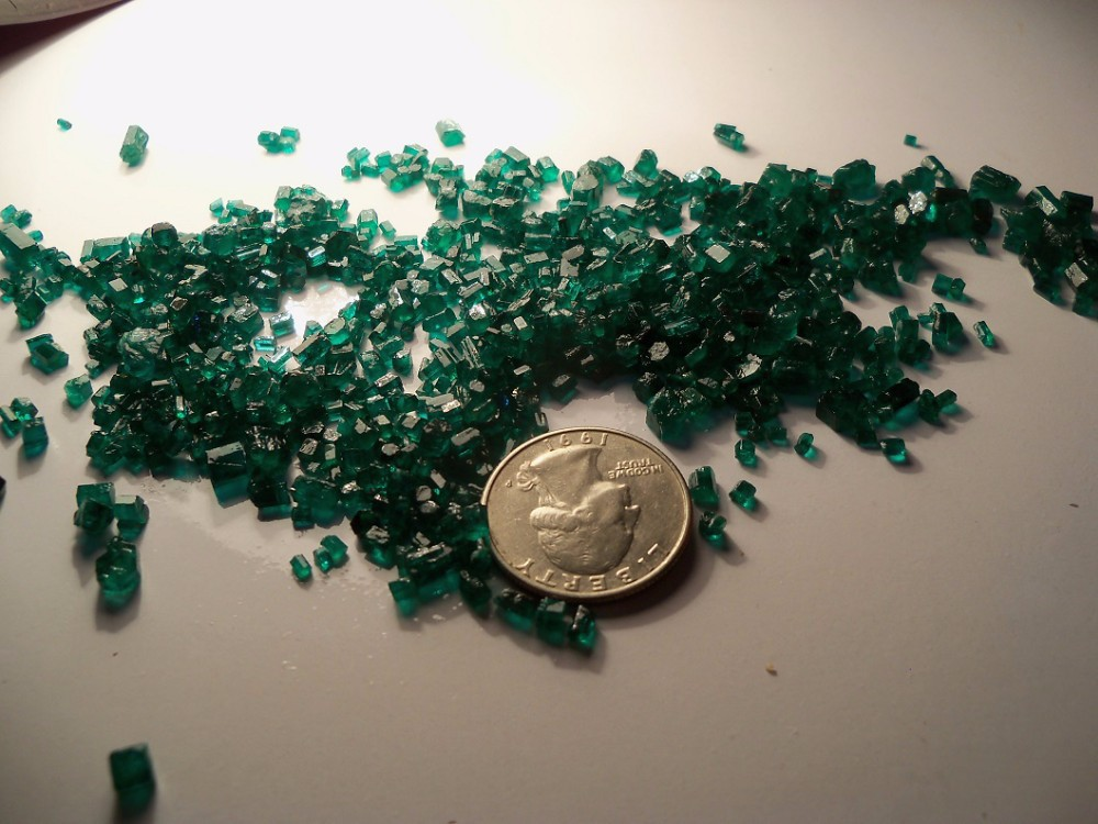 Emerald natural stones supreme facet grade small size with ultimate green color