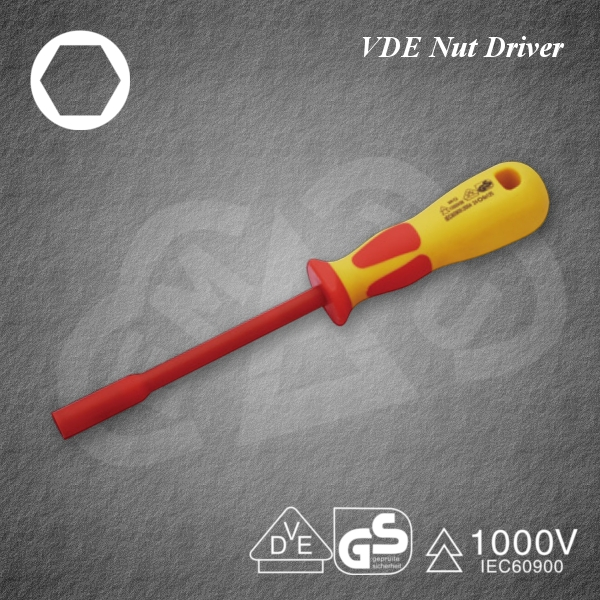 Safe VDE Nut Driver Insulated tool for industrial use