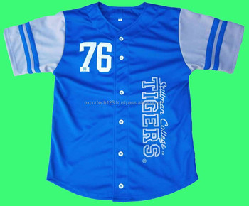 Top 100% polyester baseball jersey
