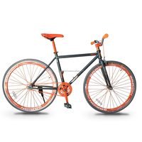 Garion 700C Fixie Fixed Gear Bike Matte Grey with Orange