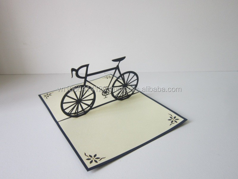 Bicycle 3d greeting card