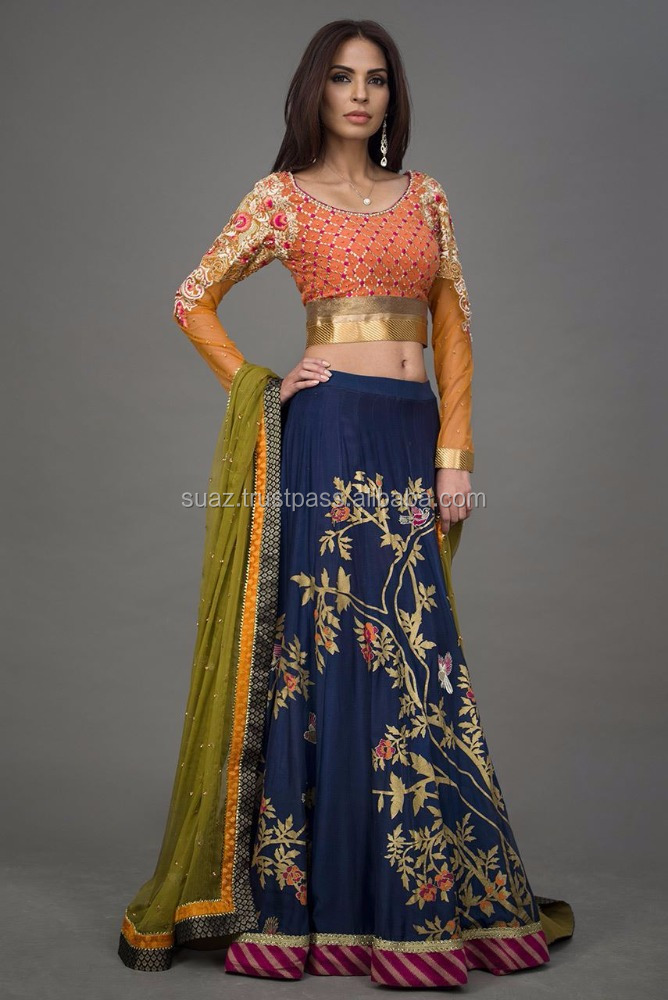 Pakistan Glamrous Designer Wear , Embroidery Hand Work Lehenga Choli For Bridal Wear , Pakistan ladies Designer wear