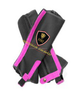 Black with Hot Pink Amara Half chaps / Horse Riding Half Chaps / Horse Riding Colorful Half chaps/Gaiters