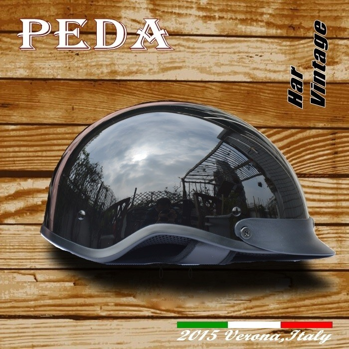 (Har) 2016 NEW DOT Half Helmet Harley Vintage CASCO Italian Unisex (PEDA MOTOR) (AMAZON supplier)
