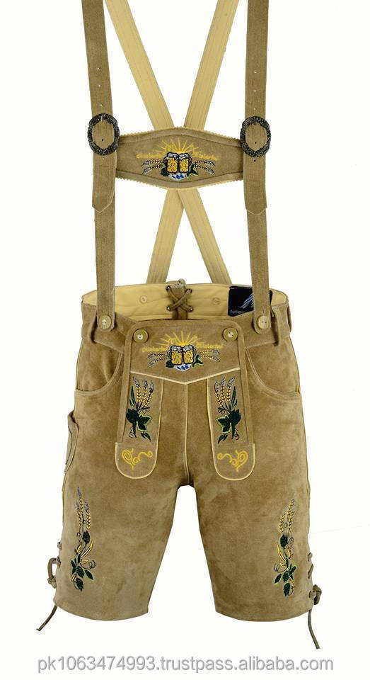 German Bavarian Lederhosen men brown suede leather 2017