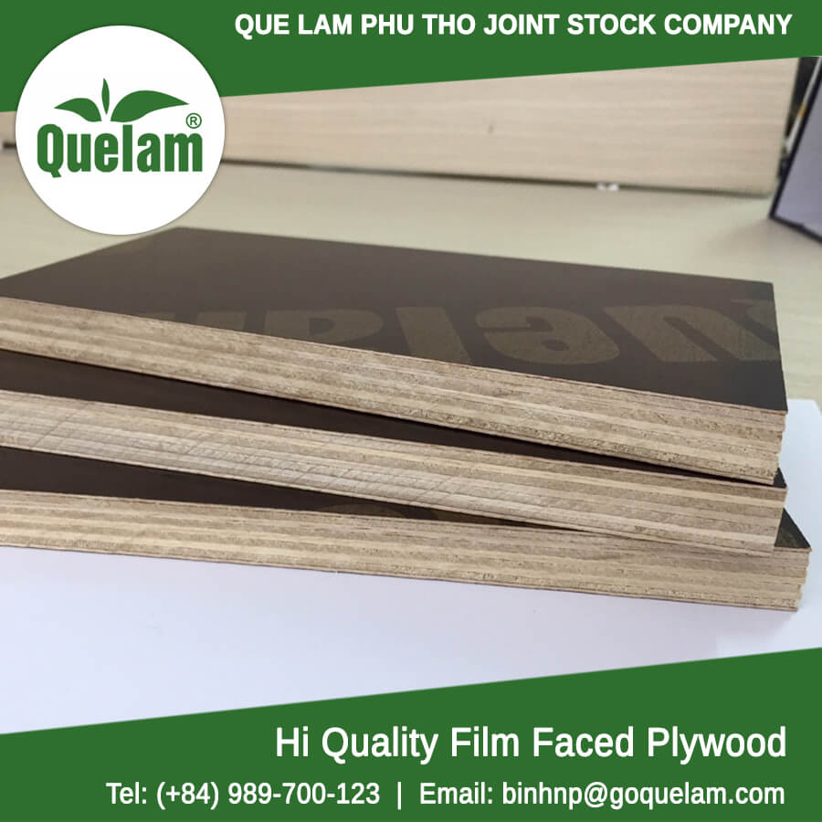 concrete forming film faced plywood / building concrete forwork plywood board