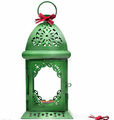Metal Christmas lantern With New Green Design