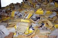 Waste Yellow Pages Telephone directories