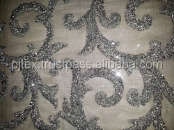 silver sequin fabric