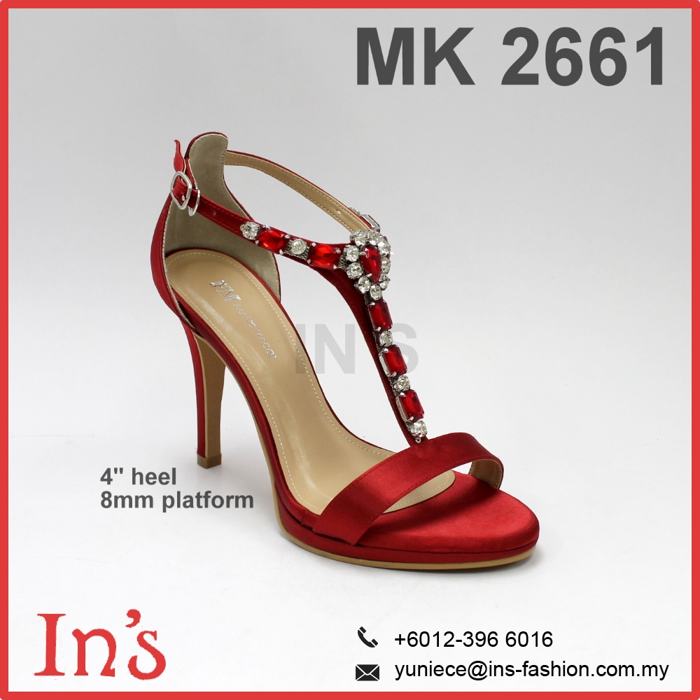 MK 2661 Bridal Ladies High Heels Shoes from Malaysia