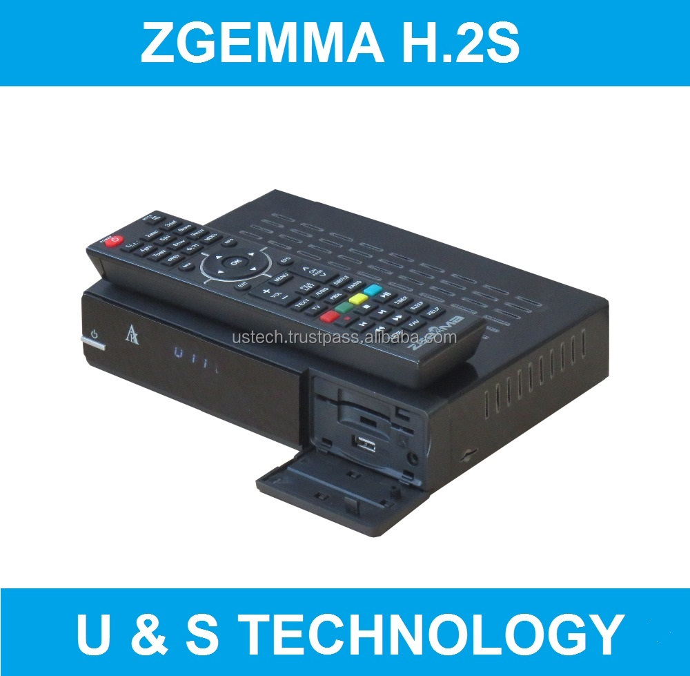 Exclusively Cable Box Zgemma H.2S FTA Digital Satellite Receiver with Dual Core Linux OS Enigma2 DVB-S2+S2 Twin Sat Tuners.