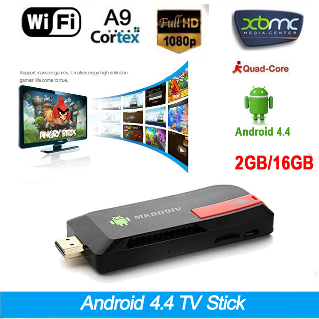 MK809IV QUAD CORE 4K ANDROID 4.4 TV BOX ROCKCHIP 1.8GHZ RK3188 CORTEX-A9 MINI PC SMART TV STICK WITH BLUETOOTH RAM 2GB ROM 16G