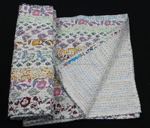 WHOLESALE PATCHWORK COTTON QUILTS WITH KANTHA WORK