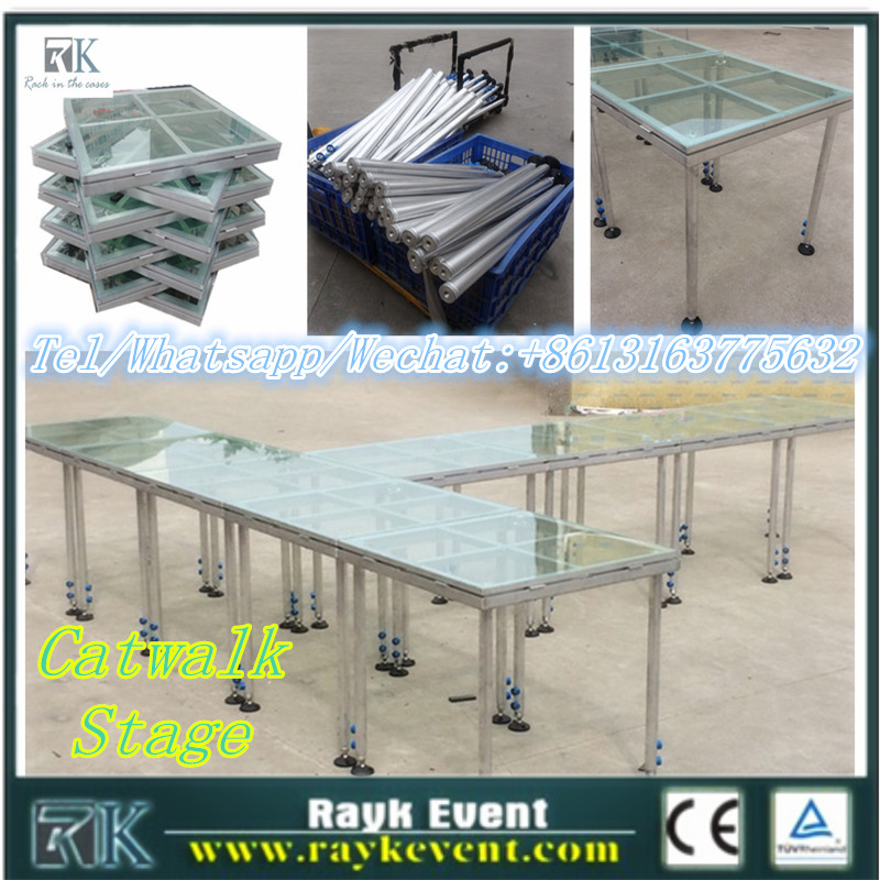 New products swimming pool glass stage/plexiglass stage/plexiglass stage desk/stage platform