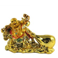 Ratna Handicrafts Feng Shui Laughing Buddha Drag The Money Potli